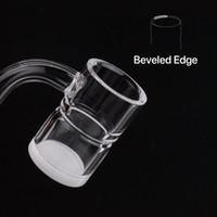 Wholesale new glass 14mm for sale - 2019 new Prevent oil splashing quartz banger with opaque bottom gavel domeless nail mm mm male female for glass bong dab oil rigs