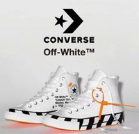 Wholesale synthetic hair chignon for sale - Group buy 2018 New Off Converses Canvas Shoes All White Black High Top Chaussures zapatos Men Women Running Breathable Shoes S Abloh Star Sneakers
