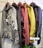 jaqueta de metal com zíper venda por atacado-NEW C.P. COMPANYCP 19SS óculos com zíper função jaqueta de nylon de metal homens e mulheres jaqueta M-2XL