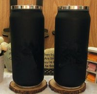 logo kahvesi toptan satış-Klasik logo siyah Vakum Bardak saman Termoslar araba şişe Şişesi Bardak Garrafa saman Termica Inox ruj fincan Kahve Seyahat