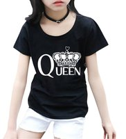 Wholesale red queen clothing for sale – halloween 2018 summer tops Queen pinting streetwear t shirts short sleeve casual kids homme clothing new fashion girls shirts hipster pp