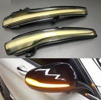spiegel indikatoren großhandel-Dynamische Blinkerseitenflügel LED-Rückspiegel-Anzeige Blinker Licht für Mercedes Benz C-Klasse W205 GLC X253 E W213 S W222
