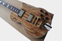 Wholesale electric guitar solid body for sale - custom large rocker electric guitar ground patterned veneer wood rosewood fingerboard free ship