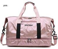 Wholesale cartoon wet bag resale online - Fashion Duffel Bags Large volume dry wet seperate Long journey travel bags versatile Sport casual bags