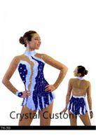 Wholesale girls figure skates resale online - Girls Figure Skating Dress New Brand Ice Skating Dresses Custom made For Competition DR4832