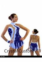 eislauf-marken groihandel-Mädchen Eiskunstlaufkleid Neue Marke Eislaufen Kleider Maßgeschneidert Für Wettbewerb DR4832