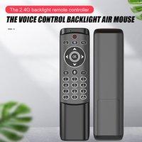 mouche vidéo achat en gros de-Multi voix Télécommande sans fil 2.4G Fly Air Mouse Gyro clavier Motion Sensor Mini télécommande
