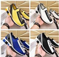 siyah kız beyaz çorap toptan satış-2019 Bayan Erkek Tasarımcı Çorap Ayakkabı Kızlar Lüks Eğitmenler Yarış İkincisi Siyah Beyaz SneakersDolce GabbanaDolce GabbanaDG