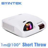 Wholesale daylight projector hdmi for sale - Group buy BYINTEK CLOUD K6 Short Throw Daylight Hologram LCD Video XGA WXGA P FUll HD Projector for Cinema Education Office Business