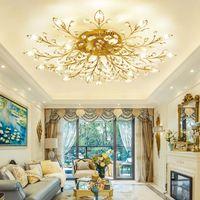 Moderne k9 kristall led deckeneinbau kronleuchter leuchte gold schwarz  hause lampen für schlafzimmer küche wohnzimmer