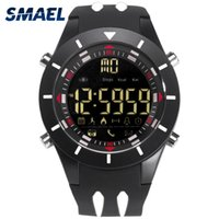 Wholesale stopwatch big for sale - Group buy SMAEL Digital Wristwatches Waterproof Big Dial LED Display Stopwatch Sport Outdoor Black Clock Shock LED Watch Silicone Men