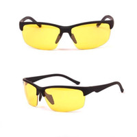 Wholesale night glare glasses resale online - Top sales Night Driving Glasses Anti Glare Vision Driver with gray and yellow outdoor Glass Eyewear