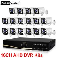 16 kanallı dvr fotoğraf makinesi seti toptan satış-LS-AKA2 16Kanal AHD DVR Sistemi 1080P HDMI CCTV DVR Su geçirmez IR Açık Kapalı Güvenlik Kamera Kiti Gözetleme Kameralar Sistemi