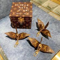 Wholesale crane pendants resale online - Top Imported Pu Material Keychain High Quality Imported Ladle Bag Pendant Thousand Paper Crane Keychain Car Pendant Fashion Jewelry