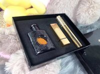 novas embalagens de perfumes venda por atacado-Os recém-chegados Três peças conjunto de batom, perfume e rímel presente perfeito para a menina caixa de presente embalagem requintada frete grátis.