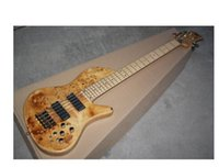 ingrosso porcellana di qualità chitarre-Nuove foto reali su ordinazione della basso di farfalla di 5 corde della fabbrica della chitarra della Cina, metallo nero, trasporto libero 8pai di alta qualità