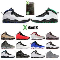 Wholesale shoe stock x for sale - Group buy 10s Basketball Stock Mens X Shoes Seattle Orlando Dark Smoke Grey Tinker Cement Gs Fusion Red Men Sports Sneakers Size