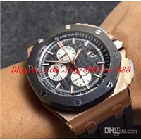 золотые часы оптовых-Роскошные часы с хронографом J * F с автоподзаводом 12 часов секундная стрелка Cal.3126 26400 Eta мужские часы из розового золота с резиновым керамическим кольцом
