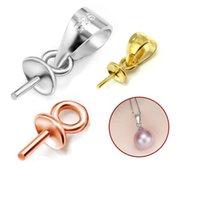 gros talon en gros achat en gros de-En gros 10pcs 925 Sterling Silver Bead Caps Setting Perles de perles pendentif Conclusions Accessoires pour la fabrication de bijoux