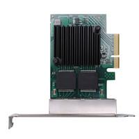 intel ethernet großhandel-Netzwerkkarte für Intel I350 PCI-E X4 Quad RJ-45 Ethernet Netzwerkkartenadapter Controller Nic 10/100 / 1000Mbps