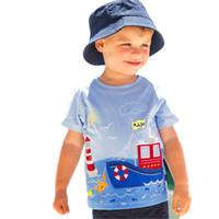 3t bilder großhandel-Baby Jungen Tees Kinder Tees Jungen Mädchen Shirt Baby Kleidung Rundhals Kurzarm Cartoon Bilder 41