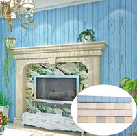 Wholesale decorated 3d wallpaper for sale - Group buy 10 m Mediterranean style D Textured Non woven Flocking Wallpaper Wall Paper Decorated Living room
