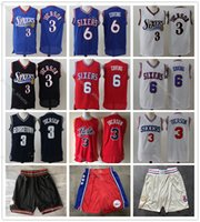 Wholesale julius for sale - Group buy 2020 Mens Throwback Jersey Allen Iverson Julius Philadelphia Erving Basketball Jersey Basketball Shorts ers Gold Blue White