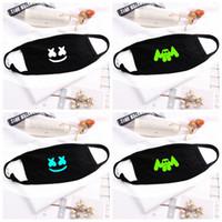 nefes alabilen maskeler toptan satış-DJ Marshmello Toz Ağız Yüz Maskesi Kadınlar Güneş Kremi Anti-Toz Yüz Maskeleri Nefes Karikatür Ağız Kapak 4 stilleri RRA2035