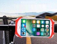 подставка для iphone для велосипедов оптовых-Силиконовый держатель для велосипеда и велосипеда Держатель для мобильного телефона для мотоцикла GPS Руль для мобильного телефона Кронштейн для iPhone Samsung 5.5