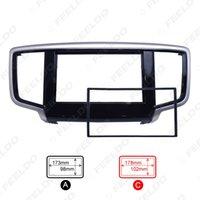kits de tableau de bord honda achat en gros de-Car 2DIN Réaménagement DVD Frame Panel Kit Dash fascia Cadre Audio Radio pour 2014 Honda Odyssey # 4065