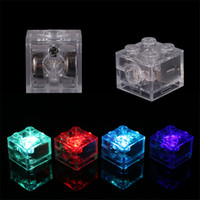 ingrosso blocchi di luce guidati-Le luci LED fai da te costruzione blcok LED colorati Duplo Per Legoinglys Block Light-Emitting giocattoli per i bambini
