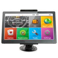 weinauto großhandel-7-Zoll Auto GPS Navigation LKW Touchscreen Bluetooth AVIN Auto GPS WinCE MP4 FM Transmitter DDR256MB 8GB 3D Karte EEA34