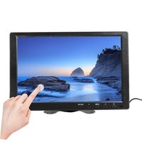 entrada hdmi de alto-falantes venda por atacado-10.1 Polegada 1280x800 LCD Touch Mini Tela de Computador LED Tela 2 Canais Entrada de Vídeo Monitor de Segurança com Alto-falante VGA HDMI
