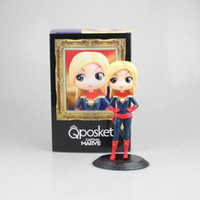 Wholesale figures avengers black widow for sale - Group buy Captain Marvel PVC toys Pop Black widow Action Figure With Box Avengers Alliance Big Eye Doll Series Gift Toy for kids C