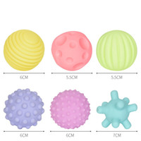 Wholesale multi toy for sale - Dog Puppy Balls Pets Eco Friendly Ball Multi Colors Toys With Sound In One Piece xf D1
