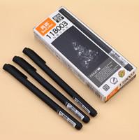 siyah şekillendirici jel toptan satış-DHL 12 Adet / grup Jel Kalem 0.5mm siyah Renk Mürekkep Kalem Maker Kalem Okul Ofis Tarzı Sınavı