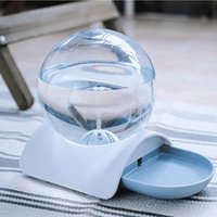 automatic feeder pet venda por atacado-Transparente Vidro Pet Água Feeder Dispenser filhote de cachorro automática Dog Drinking Water Dish Garrafa Supplies Dog Cat Alimentador