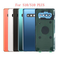 50Pcs Rear Glass For Samsung Galaxy S10E S10 Plus G970 G973 G975 G975F Back Battery Cover Door Panel Housing Case+Camera lens