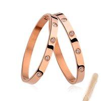 ingrosso primavera congelata estate-lusso classico delle donne designer di gioielli bracciali 18k bracciale charms oro amore vite in acciaio inox mens braccialetti Bracciali all'ingrosso