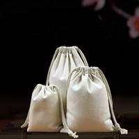 repelente de mosquito venda por atacado-Saco de cor original gunny, saco de algodão, pacote de saco de cordão boca, saco de pano pequeno saco de incenso repelente de mosquitos logotipo personalizado