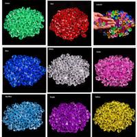 plastik dekorative kristalle großhandel-100 X Künstliche Farbe Rock Acryl Kristall Kunststoff Transparent Vase Dekorative Stein Aquarium Home Hochzeit Dekorationen C19041101