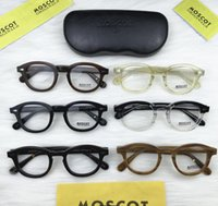 Wholesale johnny depp eyeglasses resale online - New Brand Designer Eyeglasses Frames Lemtosh Glasses Frame Johnny Depp High Quality Round Men Optional Myopia With Case
