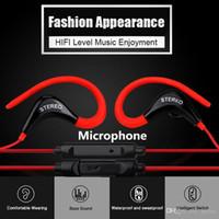 ingrosso microfono sf-In Ear Earhook SF-878 Auricolare Wired Mini Stereo Headset Cuffie Sport Musica Auricolare con microfono per xiaomi smart phone
