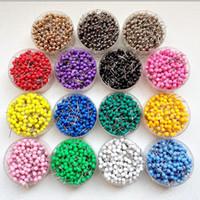 ingrosso plastica di fisarmonica-Puntine per mappa con puntina a mappa piccola da 1/8 di pollice, testa in plastica con punta in acciaio, 100 pezzi / set, 14 colori per opzione
