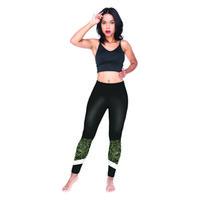 siyah şerit tozluk toptan satış-Kızlar Tayt Siyah Spor Şerit Yeşil 3D Grafik Tam Baskı Elastik Bel Bandı Jeggings Kadın Spor Pantolon Kadın Rahat Pantolon (Y54069)