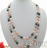 Wholesale beautiful copper pendants for sale - Group buy beautiful quot long mm Multi Color Baroque Necklace