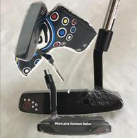 förderung golf großhandel-Förderung New Black 009-M Golf Putter + Putter Headcover 33 34 35