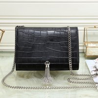 Wholesale navy blue small shoulder bag for sale - Group buy New Woman Diamond Handbags Flaps Chain Bag Crocodile With Tassel Clutch Wallet Card Bag Shoulder Plaid Chain Crossbody Handbag