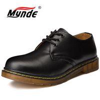 mens el yapımı deri rahat ayakkabılar toptan satış-Mynde Marka Erkek Ayakkabı Hakiki Deri El Yapımı Lüks Erkek Oxfords En Kaliteli Rahat Ayakkabılar Erkekler Büyük Boy Daireler Çalışmak