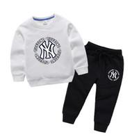 roupas de bebê para estoque venda por atacado-HOT Em estoque Best selling designer top marca 2-8 T anos de idade BABY BOYS GIRLS roupas + calças de coco de alta qualidade